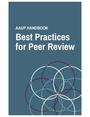 AAUP Best Practices in Peer Review_cover