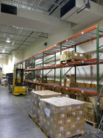 Books awaiting shipment to the new warehouse