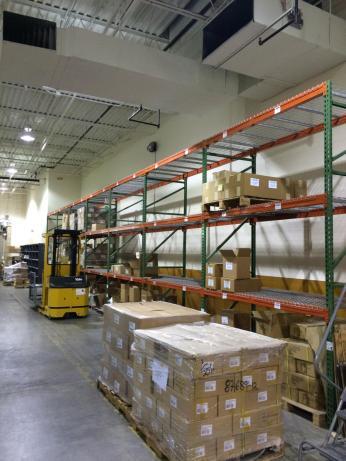 Books awaiting shipment to the new warehouse