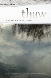 Thaw delves into the issues at the core of a resilient family: kinship, poverty, violence, death, abuse, and grief. The poems follow the speaker, as both mother and daughter, as she travels through harsh and beautiful landscapes in Canada, Sweden, and the United States. Moving through these places, she examines how her surroundings affect her inner landscape; the natural world becomes both a place of refuge and a threat. As these themes unfold, the histories and cold truths of her family and country intertwine and impinge on her, even as she tries to outrun them.