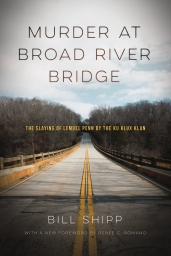 "First published in 1981, Murder at Broad River Bridge recounts the stunning details of the murder of Lieutenant Colonel Lemuel Penn by the Ku Klux Klan on a back-country Georgia road in 1964, nine days after the passage of the Civil Rights Act. Longtime Atlanta Constitution reporter Bill Shipp gives us, with shattering power, the true story of how a good, innocent, ""uninvolved"" man was killed during the Civil Rights turbulence of the mid-1960s. Penn was a decorated veteran of World War II, a United States Army Reserve officer, and an African American, killed by racist, white vigilantes as he was driving home to Washington, D.C. from Fort Benning, Georgia. Shipp recounts the details of the blind and lawless force that took Penn's life and the sorry mask of protective patriotism it hid behind. To read Murder at Broad River Bridge is to know with deep shock that it could be dated today, tonight, tomorrow. It is a vastly moving documentary drama."